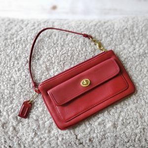 *COACH* Vintage  Wallet/ Wristlet Red